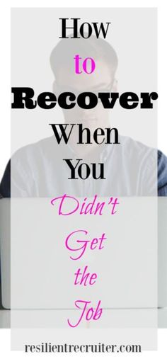 The job search itself is an emotional journey. When you lose out on a job to someone else, it can leave you feeling defeated. Find out how to recover and move forward in a positive manner! Job Interview Questions, Job Interview Tips, Defeated Quotes, Linkedin Job, Job Goals, Feeling Defeated, Job Quotes, Job Help, Job Search Tips