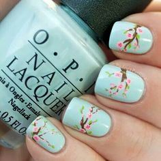 Friendly Nail Art Community with Nail Art Picture and Video Tutorials. Make your nails look awesome and share your nail art designs! Cute Nail Art, Cute Nails, My Nails, Pretty Nails, Flower Nail Designs, Cute Nail Designs, Spring Nail Art, Spring Nails, Winter Nails