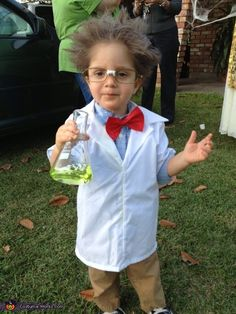 Mad Scientist - 2012 Halloween Costume Contest. My friend's son. Cute cute
