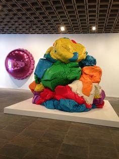 Jeff Koons Artist Retrospective Exhibition Celebration Series Pink Balloon Play-Doh Sculpture Whitney Museum Of American Art New York