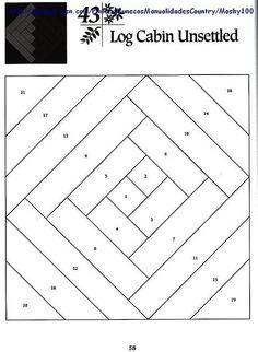 Шаблоны для пэчворка 101 Foundation-Pieced Quilt Blocks 058