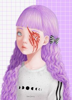 Saccstry is the artist behind these beautifully unique and freaky illustrations, all are created digitally with a wacom tablet. Her pieces feature cute and colorful