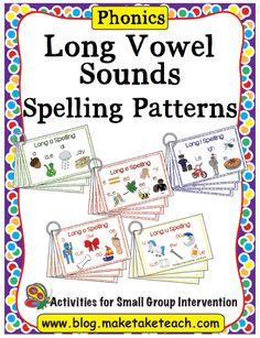 Long Vowel Sounds Spelling Patterns Write It Vowel Activities, Spelling Activities, Reading Activities, 3rd Grade Spelling, Spelling Lists, Kindergarten Reading, Teaching Reading, Wilson Reading, Short Vowel Sounds