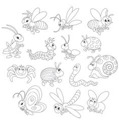 garden bugs coloring pages - photo#19