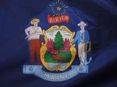Blue Flag State of Maine Large Maine State Flag by injoytreasures