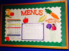 We have our menus displayed on this board.