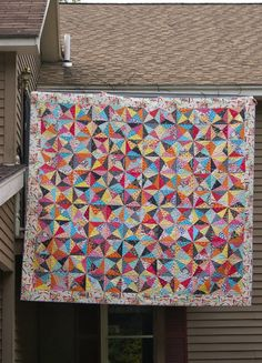 Dresden Lane: Crackle quilt. gorgeous use of colors.