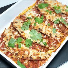 Enchiladas med speltlompe Frisk, Enchiladas, Vegetable Pizza, Guacamole, Pesto, Quiche, Vegetables, Breakfast, Food
