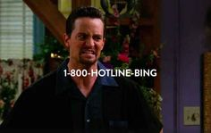 Who ya gonna call?   There is a mashup of Chandler Bing Dancing to Hotline Bling Called Hotline Bing   THIS IS THE BEST THING I HAVE EVER SEEN