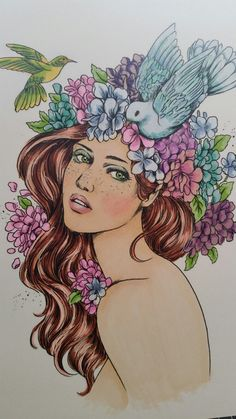 'Claire' Coloured with Copics by me  (Aylene )