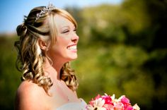 Half up half down hairstyles are a great way to show off long hair and can be romantic and casual How to Create a sophisticated curly bridal updo for short hair. Description from persiwedding.net. I searched for this on bing.com/images