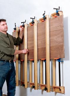 Wall-mounted Plywood Panel Press Project