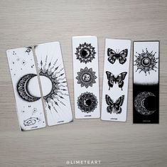 Mandalas y Zentangle Art by Limeteart Creative Bookmarks, Diy Bookmarks, Mandala Drawing, Mandala Art, Felt Bookmark, Bookmark Ideas, Bookmark Craft, Botanical Line Drawing, Bullet Journal Banner