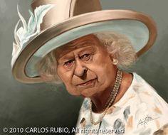 Caricatura de la Reina Isabel II                                                                                                                                                                                 Más