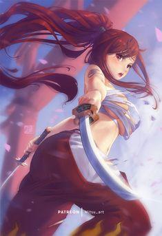 Fairy Tail Girls, Fairy Tail Art, Fairy Tail Love, Fairy Tales, Fairy Tail Erza Scarlet, Fairy Tail Gruvia, Fairy Tail Anime, Anime Girls, Kawaii Anime Girl