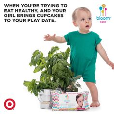 But don't let her mess with your #bloomBaby wipes - they're plant-based, vitamin-rich, & #healthy for skin and the planet. #TargetMom #TargetBaby