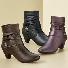 Gwenda Bootie by Soft Style from Monroe and Main. Wrapped-and-ready banded style has chic lines and shape. Weekend Fun, Hello Autumn, Fall Shoes, Fashion Shoes, Shoe Boots, Latest Trends, Footwear, Booty, Seasons