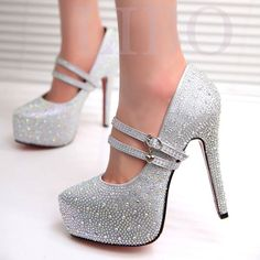 $20.39 2014 new women fashion high heels prom wedding shoes ladies crystal platforms silver Glitter rhinestone studded wedge party pump-in Pumps from Shoes on Aliexpress.com | Alibaba Group