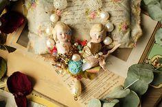 【睡】beautiful love ---the second season  This is my own jewelry brand 【睡】    Material:  German antique porcelain doll,  Irregular natural