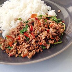 Spicy stir-fried beef with holy basil | ผัดกะเพราเนื้อ