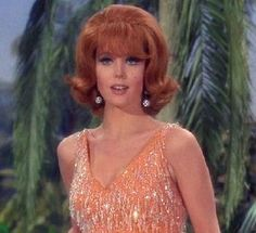 Ginger - Gilligan's Island I've been called Tina Louise more than once. Tina Louise, Ginger Gilligans Island, Mary Ann And Ginger, Giligans Island, Islands, Redhead Costume, Ginger Grant, Long Sequin Dress, 60s Hair