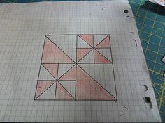 moulin à vents en couture sur papier