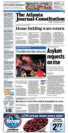 The Atlanta Journal-Constitution: July 5, 2012.