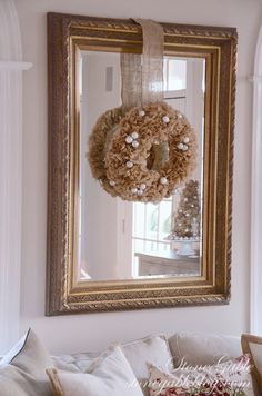 COFFEE FILTER TREE AND WREATH DIY - StoneGable