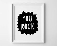 Boys room decor nursery print Typography poster by MiniLearners