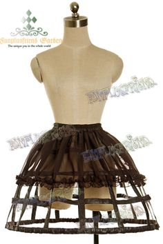 Something simple like this for a cage skirt.