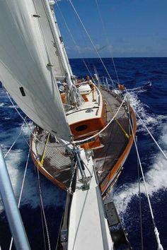 "yachtgasm: ""Cherubini 44' sailing the Marion to Bermuda race """