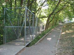 Pedestrian bridge, Parc de Lancy, Georges Descombes, Geneva