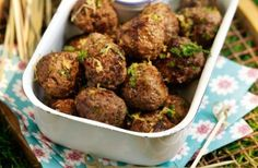 Slimming World Zesty herbed picnic meatballs