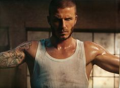 """The tradition of having a pretty female model on the front of a woman's glossy magazine is to be broken. David Beckham will be the first solo male to appear on the special Olympics edition of the British Elle.  The football star was asked to pose for the cover as he represents the 'perfect' combination of """"style and athletic powers,"""" British Elle Editor Lorraine Candy explained."""