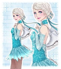 Elsa Sport by ShaniNeko on deviantART