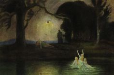 Hermann Hendrich, Wagner's Ring des Nibelungen, Siegfried's Death, in Niebelungenhalle