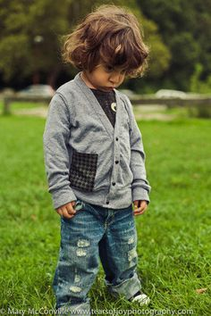 Boys Cardigan Sweater with Houndstooth by lilthreadzclothing, $32.00