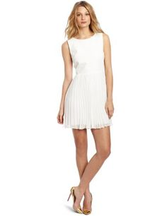 ERIN Erin Fetherston Women's Vegan Leather Bodice Dress: Clothing