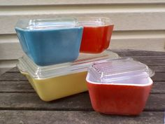 pyrex - Just bought this set (minus the yellow pan)!  So excited about starting a pyrex collection!