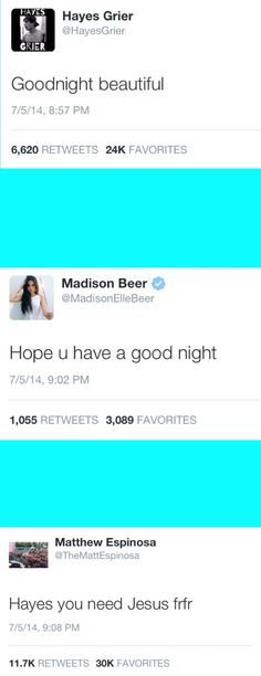 Ok don't get me wrong I LOVE madison but I don't think her and Hayes were good together......but I like her a jack together!!!!