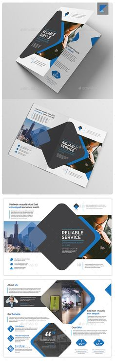 Business Bi-fold Brochure V41 - Corporate Brochure Template Vector EPS, Vector AI. Download here: http://graphicriver.net/item/business-bifold-brochure-v41/12246025?s_rank=1799&ref=yinkira