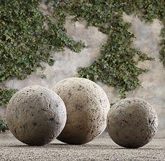 Simple Details: diy restoration hardware garden spheres...