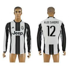 Juventus 16-17 #Alcxsandro 12 Hjemmebanetrøje Lange ærmer,245,14KR,shirtshopservice@gmail.com
