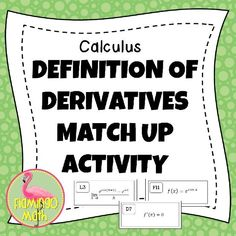 This activity contains 36 task cards meant for the Differentiation Unit in Calculus. Each set of cards includes a function, a limit card (by difference quotient definition) and a derivative at a point card. Ap Calculus, Group Activities, Differentiation, Task Cards, Definitions, Abs, Classroom, The Unit, Teaching