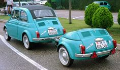FIAT500 with trailer.