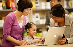 Apple Retail Stores offer Youth Workshops for Families (compose songs, build photo albums, etc., ages 6 to 13); field trips, & Apple Camp for Kids (kids make their own films using iMovie, ages 8-12).