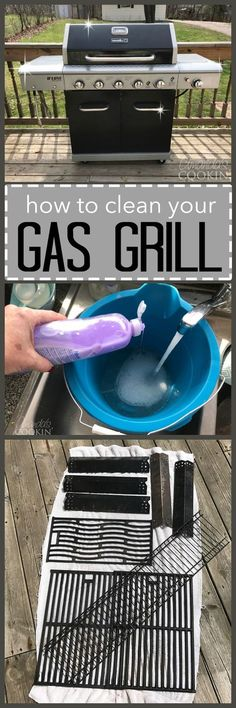 Get ready for grilling season with this step by step photo guide on how to clean your gas grill. Easy instructions that will have you grilling in no time!