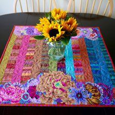 MarveLes Art Studios: fiesta tablerunner collage #1 ~ bold and beautiful kaffe…