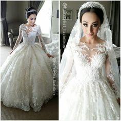 Princess bride in a Steven Khalil wedding gown