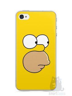Capa Iphone 4/S Homer Simpson Face - SmartCases - Acessórios para celulares e tablets :)